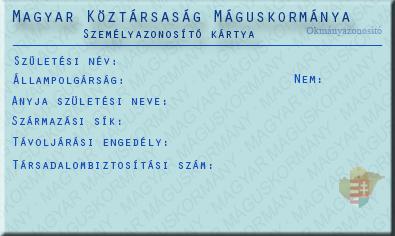 mágikus azonosító kártya